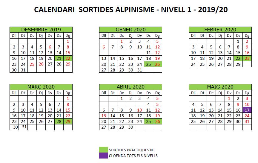 N1 calendari de sortides alpinisme 2019_20