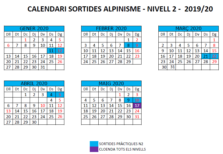 N2 calendari de sortides alpinisme 2019_20