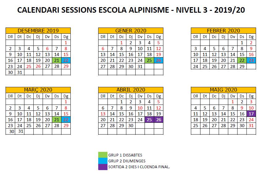 N3 calendari escola alpinisme 2019-20