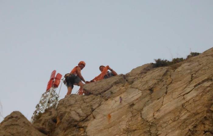 Via llarga d'escalada esportiva