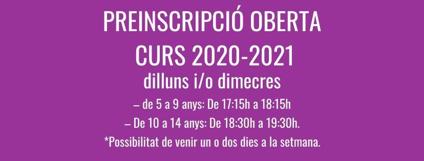 LA BISBAL PREINSCRIPCIONS CURS 2020-2021